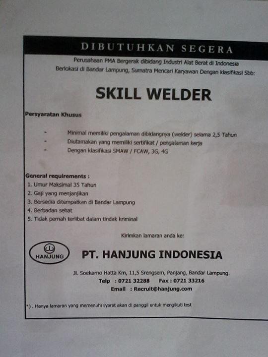 Share Info Job Welder 2014 Terus Berinovasi